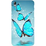 Casotec Flying Butterflies Design Hard Back Case Cover for HTC Desire 816