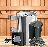 Karibu Sauna Forno 3,6KW con moderno esterno controllo Plus di Von Sudor Ewell®