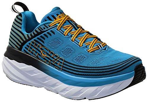 Hoka Bondi 6, Running Shoes for Men, Blue (DresdenBlue / Black DBBC), 44 2/3 EU