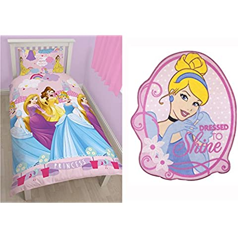 Incantevole Disney Princess, Copripiumino singolo-Set da letto & Sparkle