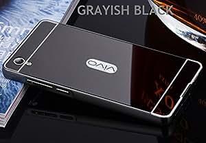 AUDOS Luxury Mirror Aluminium Metal Bumper Back Cover Case For VIVO Y51/Y51L (Grayish Black)