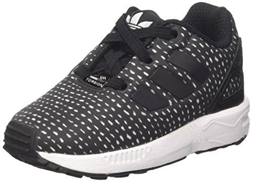adidas Unisex Baby ZX Flux EL Sneakers, Schwarz (Core Black/Core Black/FTWR White), 22 EU (Baseball-jersey-clearance)