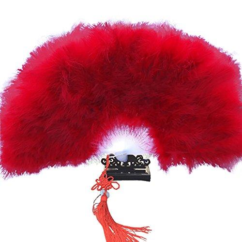 Milopon Fächer Handfächer Faltfächer Japanische Chinesische Feder Fächer für Hochzeit Dekoration Geschenk Tanzabend Party Kostüm Maske Karnevals (Weiß)