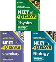 40 Days Crash Course For NEET Physics, Chemistry & Biology 2021 (Set Of 3 Bo