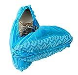 Blue Shoe Guys - Couvre-chaussures et couvre-chaussures jetables de première qualité | Heavy Duty, antidérapant, recyclable, intérieur / extérieur | Paquet de 100 (Grande Taille S'adapte Le Plus)