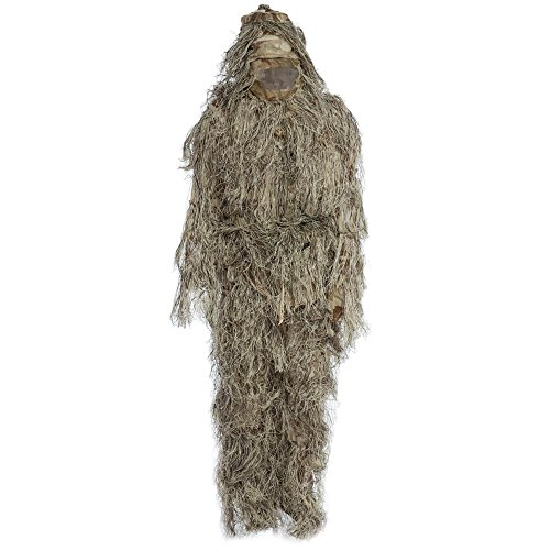 , Jagd Woodland Camo-Ghillie Suit Tactical Camouflage Kleidung Suit CS-Wald-/Airsoft, Wild-Halloween oder Weihnachten, MARPAT DESERT (Ghillie Anzug Für Halloween)