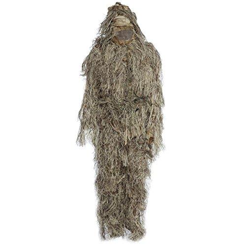 Tini Regner 4-teilig, Jagd Woodland Camo-Ghillie Suit Tactical Camouflage Kleidung Suit CS-Wald-/Airsoft, Wild-Halloween oder Weihnachten, MARPAT DESERT