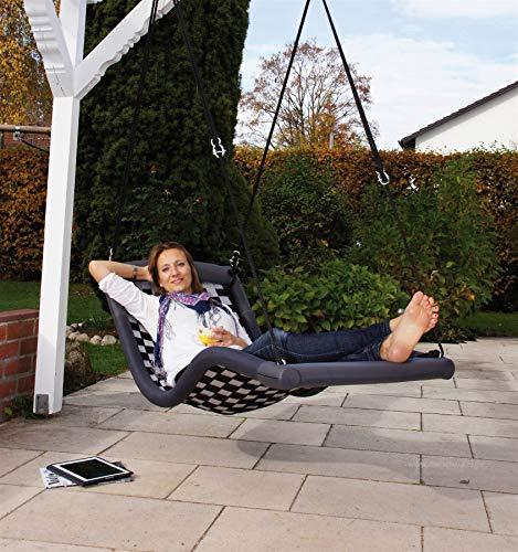 Relaxschaukel Sessel-Liegeschaukel DREAMLINER STANDARD (170x66 cm) (schwarz)