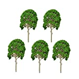 Gazechimp 5 Stück 1:50 - 75 Bäume 15cm für Modelleisenbahnlandschaft