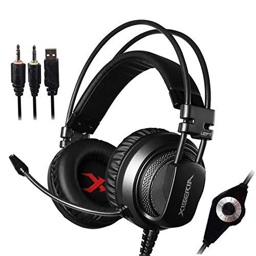 Jumor Gaming Headset, Stereo Xbox One Headset Wired PC Gaming Headphone Mit Rauschunterdrückungsmikrofon, Over-Ear Kopfhörer Für PC, MAC, Playstation 4, Xbox One, Android Und iPhone,Schwarz