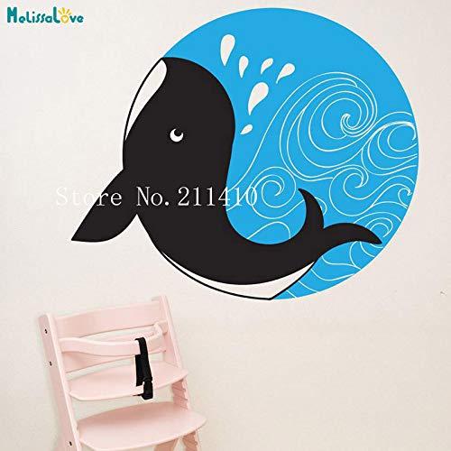 tattoos Wal Kreis Tapete Aufkleber Wohnkultur Für Kinder Baby Room Sea Animal Selbstklebende Vinyl Nette Wand rot 67x56 cm ()