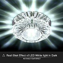Lámpara de Techo LED Plafón de techo Moderna luces joya de vidrio de cristal luz de techo lámparas de luz Candelabro de cristal Luces (Blanco frío)