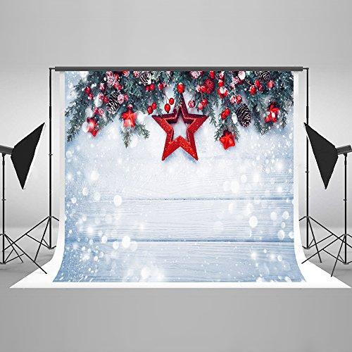 KateHome PHOTOSTUDIOS 2,2x1,5m Weihnachten Hintergrund Holz Weihnachten Schnee Hintergrund Weihnachten Hintergrund für Fotografie (Hintergrund Für Weihnachten, Fotografie)