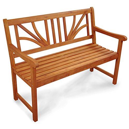 Indoba Gartenbank, 2-Sitzer 'Lotus' - Serie Lotus, braun, 120 x 61 x 88 cm, IND-70103-GB2