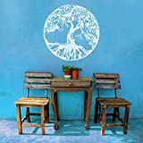 "MairGwall Wandtattoo Naturdekoration Baum, Wandaufkleber alter keltischer Baum des Lebens, Wandgrafik, Schlafzimmer, Vinyl, Vinyl, weiß, 20""h x20""w"
