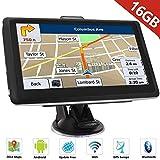 HiEHA 7' Zoll GPS Navigationsgerät Navi Navigation LKW PKW Bluetooth Europe Traffic Android 16GB 512MB Blitzerwarnungen POI Fahrspur- und Parkassistent lebenslang kostenlose Karte-Updates