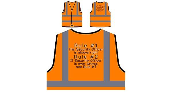 Regel 1 Sicherheitsbeauftragter hat Immer Recht Regel 2 Siehe Regel 1 Personalisierte High Visibility Orange Sicherheitsjacke Weste d32vo