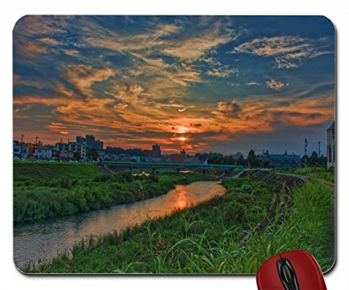 Oto River at Sunset wallpaper mouse pad computer mousepad