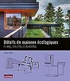 Détails de maisons écologiques: Plans, coupes, élévations...