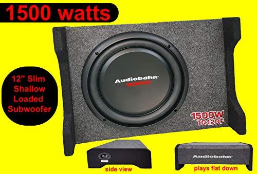 Audiobahn 30,5 cm 1500 W Auto LKW Flacher Boom Bass Box Subwoofer glatt Audiobahn Auto Subwoofer
