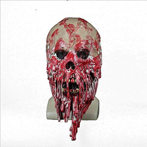 MIANJU@ Halloween Maske Dämon Parasit Zombie Maske Latex Ausrüstung Vampir Skull Party Halloween Gruselige Terror Masken Horror Mascara Latex Realista