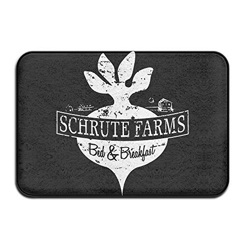Wamnu Schrute Farms BeetsDoormat Entrance Mat Floor Mat Rug Indoor/Outdoor/Front Door/Bathroom Mats Rubber Non Slip