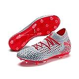 PUMA Future 4.1 Netfit FG/AG Herren Low Boot Fußballschuhe Blau-Rot, tamaño:44.5