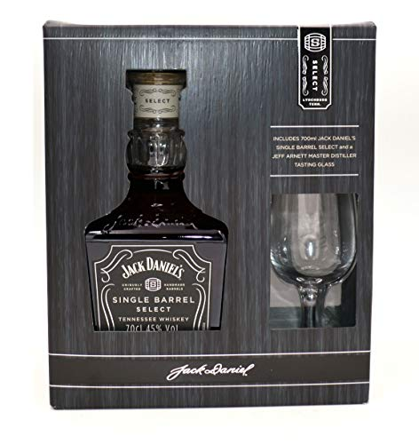 Jack Daniel's Single Barrel Geschenkset mit original Jeff Arnett Nosing-Glas - limitiert Whisky (1 x 0.7 l) (Jack Daniels Single)