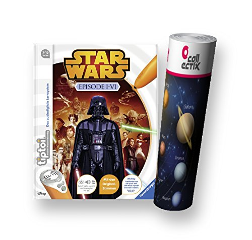 Ravensburger tiptoi® Buch - Star Wars ™ Episode I-VI + Weltraum-Kinder-Poster by Collectix