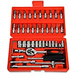 Lot de 46 clés dynamométriques 1/4' pour outils Socket Quick Release à main pour...