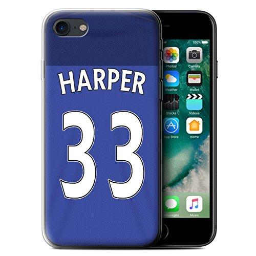 Offiziell Sunderland AFC Hülle / Gel TPU Case für Apple iPhone 7 / Matthews Muster / SAFC Trikot Home 15/16 Kollektion Harper