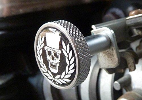 Choke ckoke pulsante alluminio Triumph Scrambler Bonneville Thruxton America Speed Master
