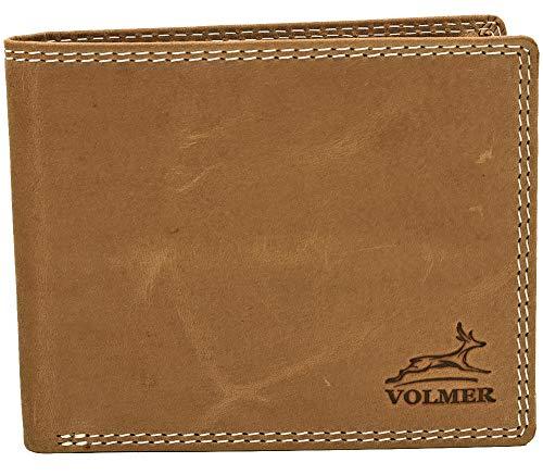 39b5d873fc858 Volmer Schlanke Büffelleder Geldbörse bequem einfach und stabil Usedlook  mit RFID-Schutz  16112-Camel