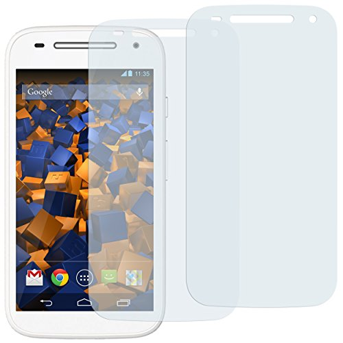 mumbi Schutzfolie kompatibel mit Motorola Moto E 2. Generation Folie klar, Bildschirmschutzfolie (2x)
