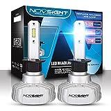 2018 NOVSIGHT LED-Leuchtmittel, 1 Paar 50 W, 10000 Lumen, H1 H4, H7, Fit, für LKW, IP68, wasserdicht, 2 Jahre