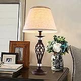 ZfgG Lampe de Bureau Dimmable, Lampe de Table Créative Creuse en Fer Noir 54cm * 30cm (Couleur : Bouton)