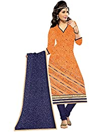 MAHI FASHION Women's Cotton Dress Material (MF05_Free Size_Multi-Coloured)