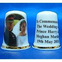 Birchcroft Porcelaine Chine Dé à Coudre à collectionner–Prince Harry et Meghan Mariage Mariée et marié–Coffret cadeau inclus