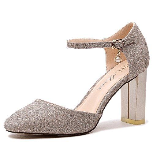 ZPPZZP La sig.ra sandali irregolare con stile Coreano con bold Baotou selvatica 38EU