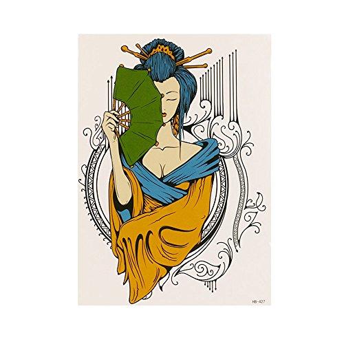 Kashyk Zeichentattoos - temporäre Tattoos - 11 Muster - Papier - wasserfest - schweißfest - Körperaufkleber - Make-up Party - Halloween