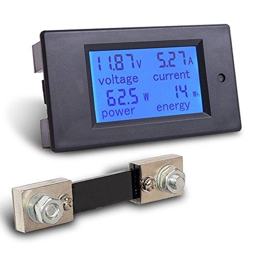 MICTUNING Multimetro DC 6.5-100V 0-100A LCD Schermo Digitale Tensione Aperaggio Voltaggio Potenza...