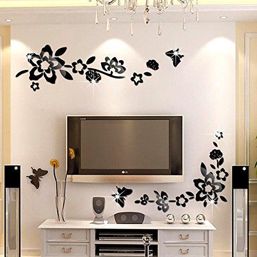 ufengker-3d-flores-diagonales-efecto-de-espejo-pegatinas-de-pared-diseno-de-moda-etiquetas-del-arte-