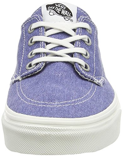 Vans Unisex-Erwachsene Brigata Low-Top Blue (Washed - Navy/Stripes)