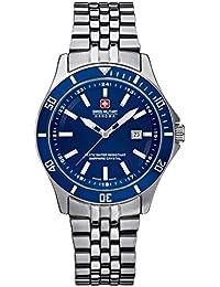 Swiss Military Hanowa 06-7161.7.04.003 - Reloj analógico de cuarzo para mujer, correa de acero inoxidable color plateado