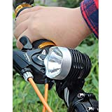 JEEJEX 3 Flash Modes Bicycle Mountain Bike Front Head Light, Outdoor Rear Safety Flashlight Set