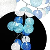 A-SZCXTOP Decorative 20 LED Cotton Ball Water- resistant String Lights for Celebration Wedding Scene Layout ,Party, Christmas Decoration, Holiday Festival and Commercial Use