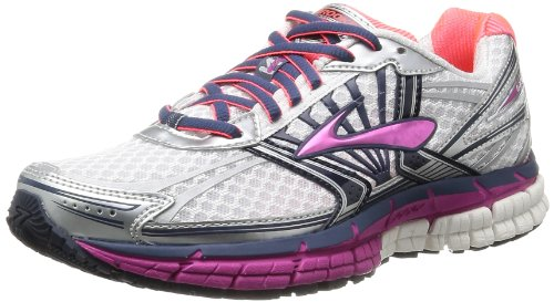 BrooksAdrenaline GTS 14 W - Zapatillas de running mujer, Rosa - White/Fuschia/Midnight, EU 37 (UK 4)