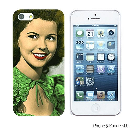 OBiDi - Celebrity Star Hard Back Case / Housse pour Apple iPhone SE / Apple iPhone 5S / 5 - Beautiful Queen Elizabeth II Shirley Temple