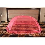 Kolar Baby Polyester Jacquard Fabric Elegant Mosquito Net, 42x28x13.5inch (6StickGold-Pink)