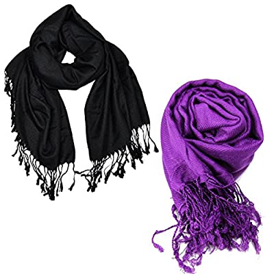 VR Designers Pack of 2 classic and solid scarfs